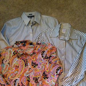 Womens long sleeve cotton blouses size L